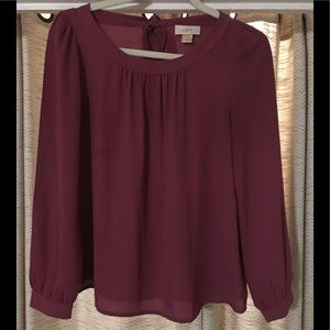 Loft mauve color blouse